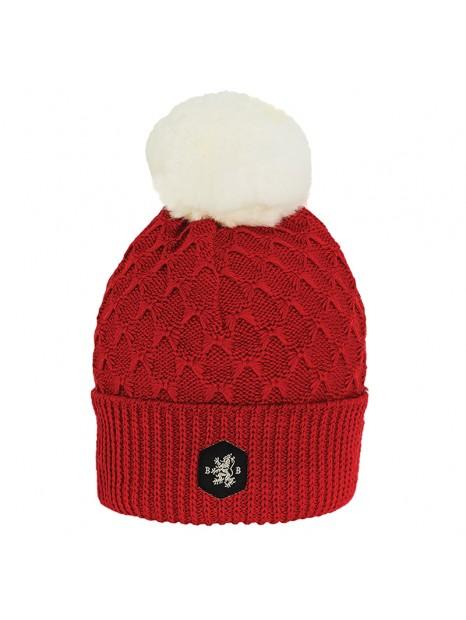 Visuel bonnet la clusaz adulte rouge