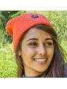 Bonnet Barèges orange lifestyle Blanc Bonnet femme