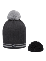 TRIO SANCY 100% LAINE MERINOS BONNET + ECHARPE + GANTS GRIS