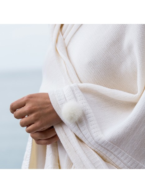 Poncho Blanc Bonnet